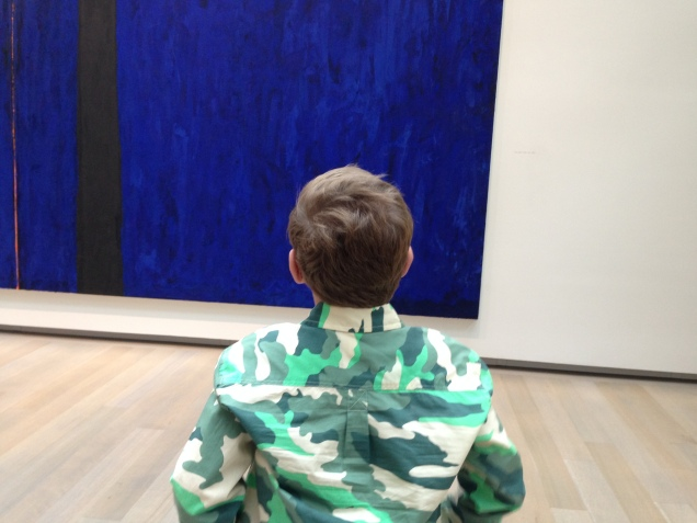kid meets abstract art for the first time
